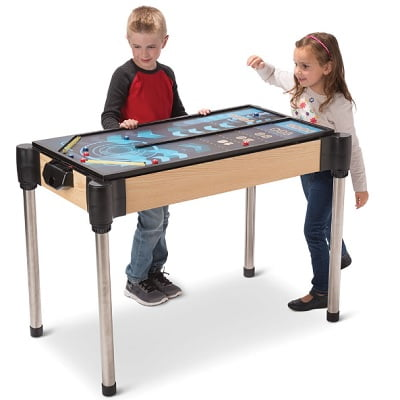 The 5 In 1 Arcade Game Table - the multi-sport arcade table that features five games while only taking up the space of one