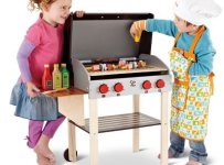 The Child's Wooden BBQ Playset