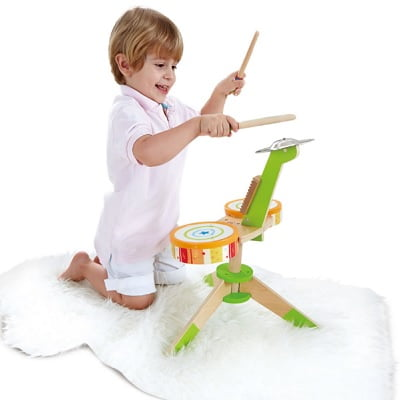 The Kids Wooden Drum Playset 1