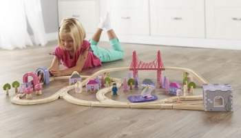 The 75 Piece Fairy Town Train Set