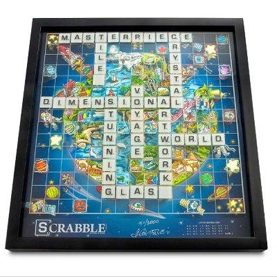 The Pop Art 3D Glass Scrabble 1