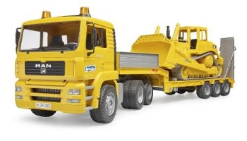 Caterpiller-Bulldozer-Low-Loader-Truck
