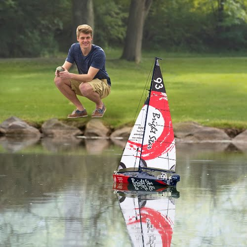 RC Motorized Sailboat