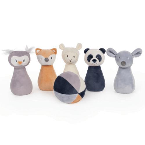 Plush Animal Friends Bowling Set