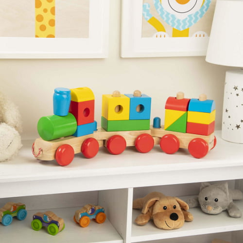 Personalized Wooden Stacking Train1