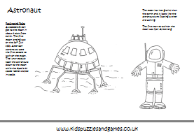 Space Colouring Sheets Kids Puzzles And Games