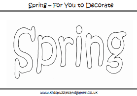 Spring Colouring Sheets Kids Puzzles And Games