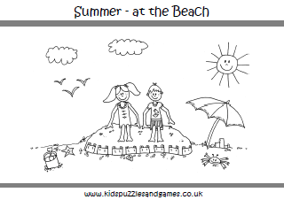 summer colouring sheets kids puzzles and games