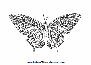 Butterfly Mindfulness Colouring Page Kids Puzzles And Games