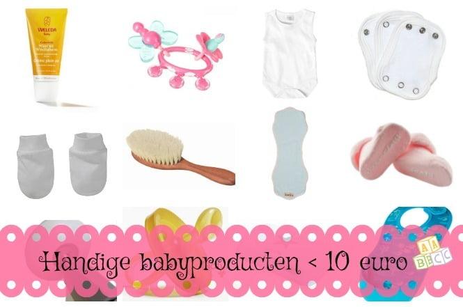 Handige babyproducten onder 10 euro