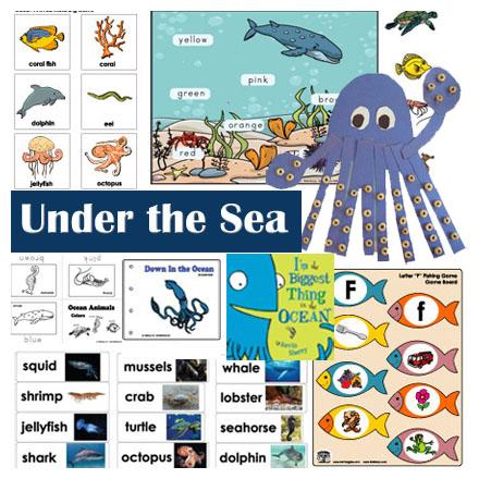 Ocean animals crafts, activities, games for preschool and Kindergarten