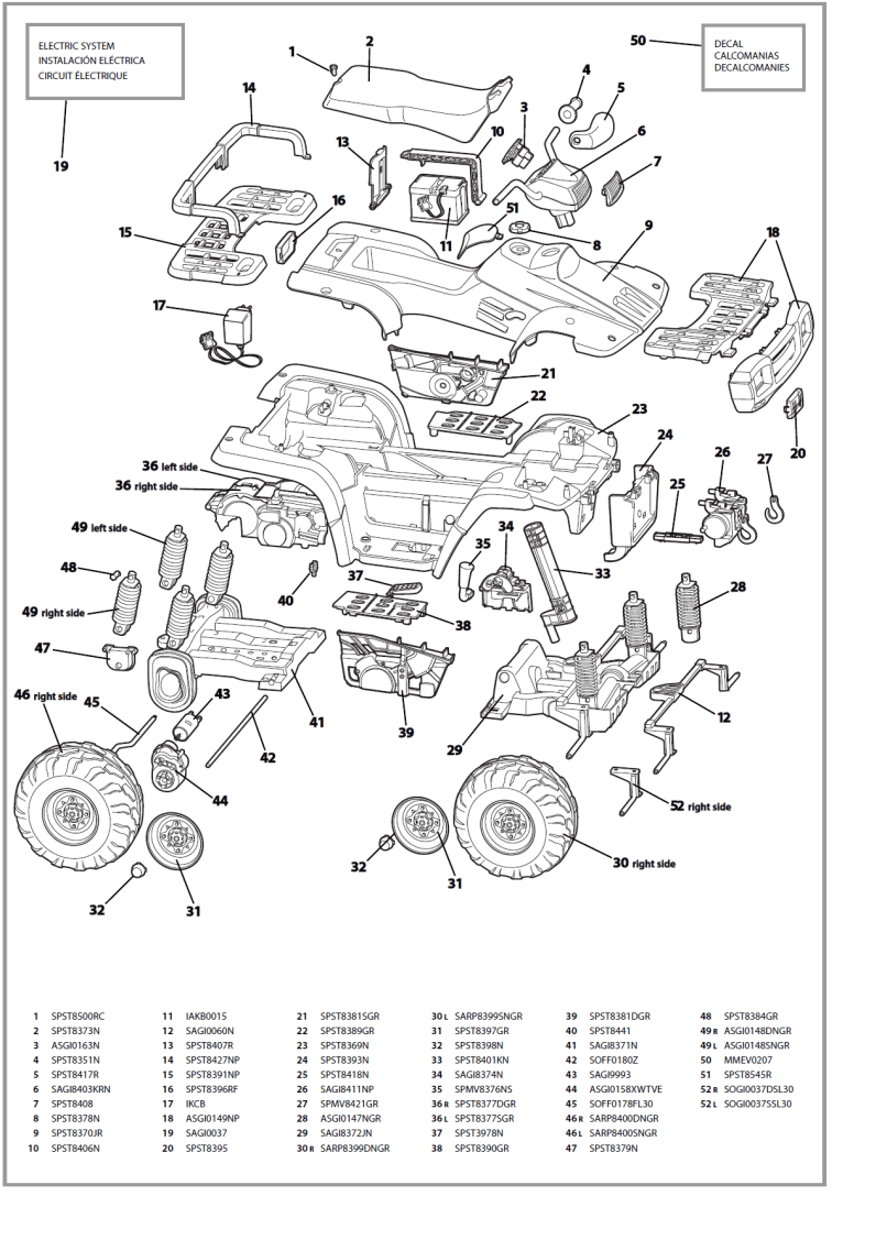 2001 polaris ranger 500 parts diagram