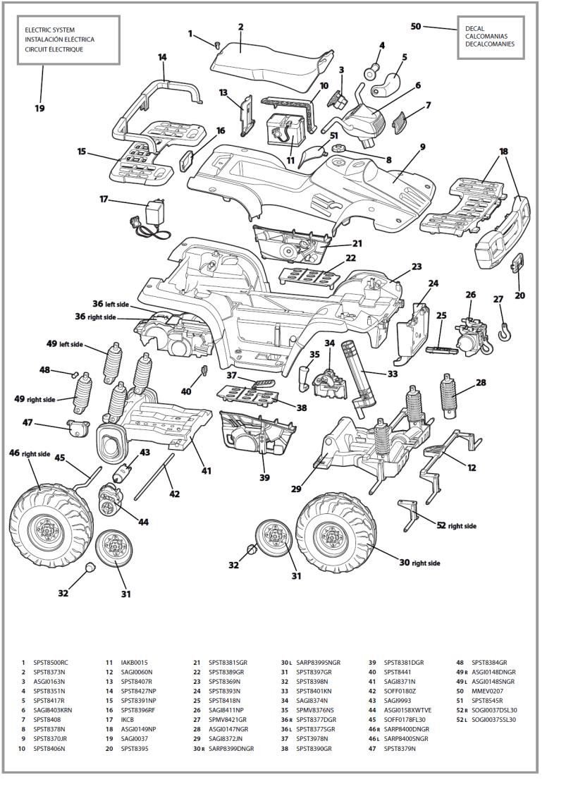 2004 polaris sportsman 400 parts diagram | kayamotor co on honda  rancher 420 wiring diagram