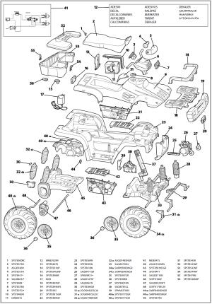 Polaris sportsman 2x (x2) IGOD0032 IGOD0035 Parts  KidsWheels