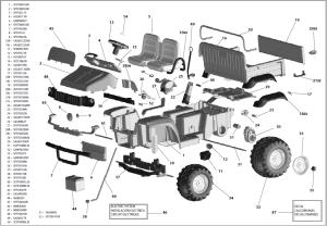 John Deere Gator HPX IGOD0055 IGOD0049 Parts  KidsWheels