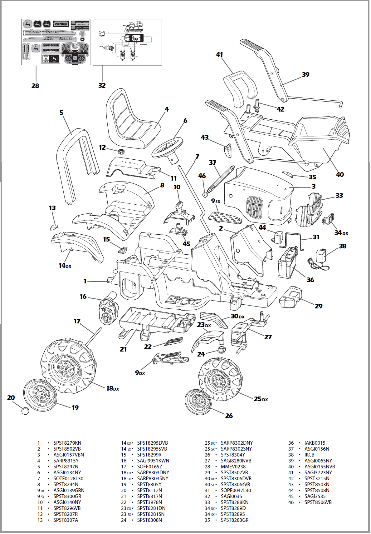 John Deere Power Loader Igor Parts