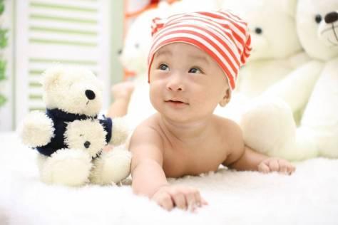 baby cute child lying