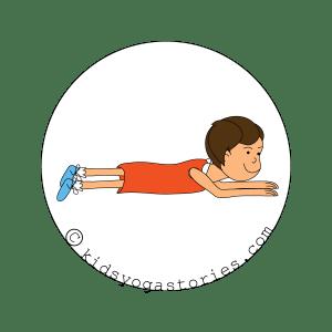 Cobra Pose for kids - kids yoga stories