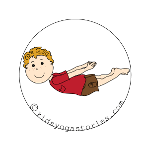 locust Pose kids yoga stories
