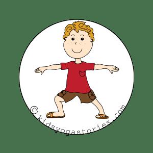 warrior 2 pose kids yoga stories