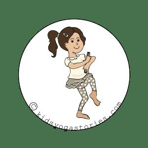 Dancing Ganesha yoga pose for kids