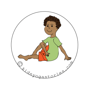 Seated Twist Pose for kids |Kids Yoga Stories