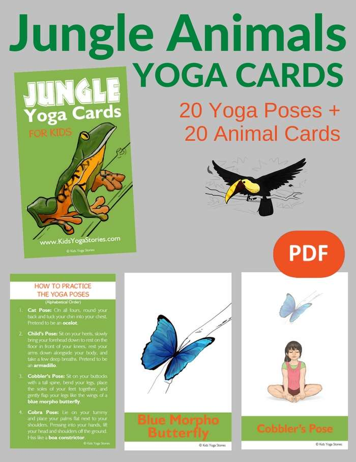 picture about Printable Yoga Cards named Cost-free Printable Yoga Playing cards For Youngsters - Upon Log Wall