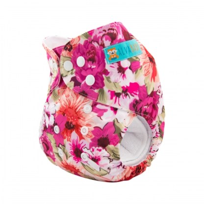Reusable Cloth Pocket Nappy Floral Flowers