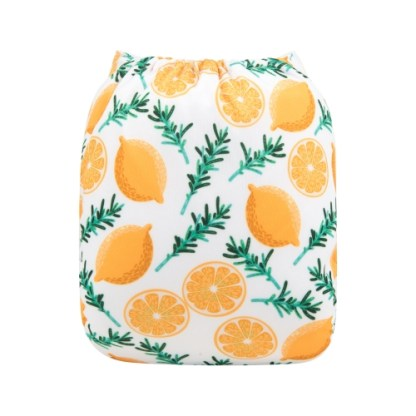 Alvababy Reusable Cloth Pocket Nappy Lemon