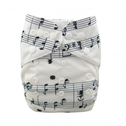 Reusable Cloth Pocket Nappy Notes Music