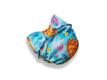 Kokosi Reusable Cloth Nappy AIO NB Newborn Nappy sea