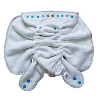 Green Fitted Nappy Zero Waste Reusable Night Nappy