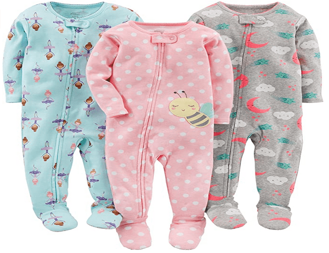 Snug Fit Footed Cotton Pajamas