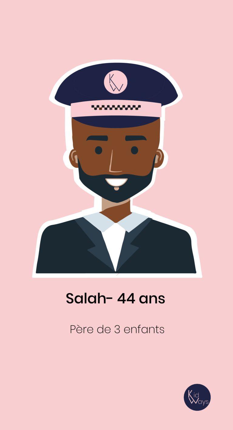 Salah est un de nos supers-chauffeurs chez Kidways
