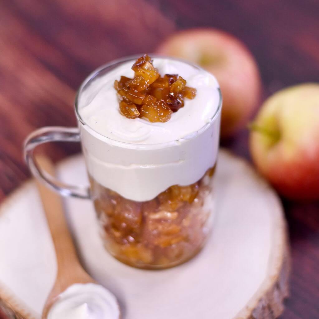 pommes tatin mascarpone