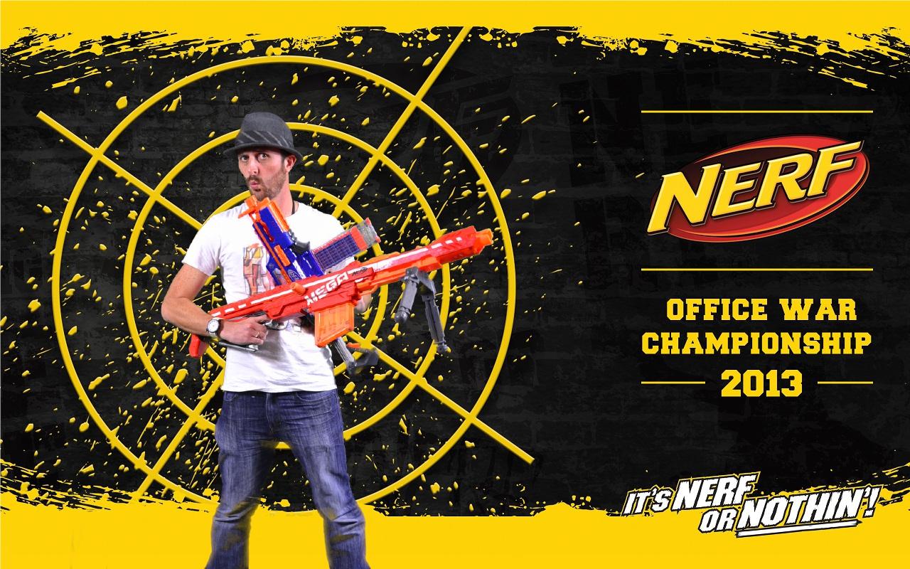 NERF Office War Championship 2013