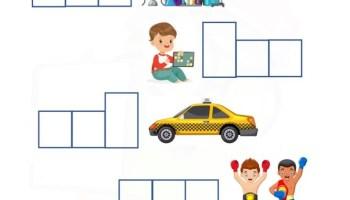 ab word family - word shapes Kindergarten  worksheet