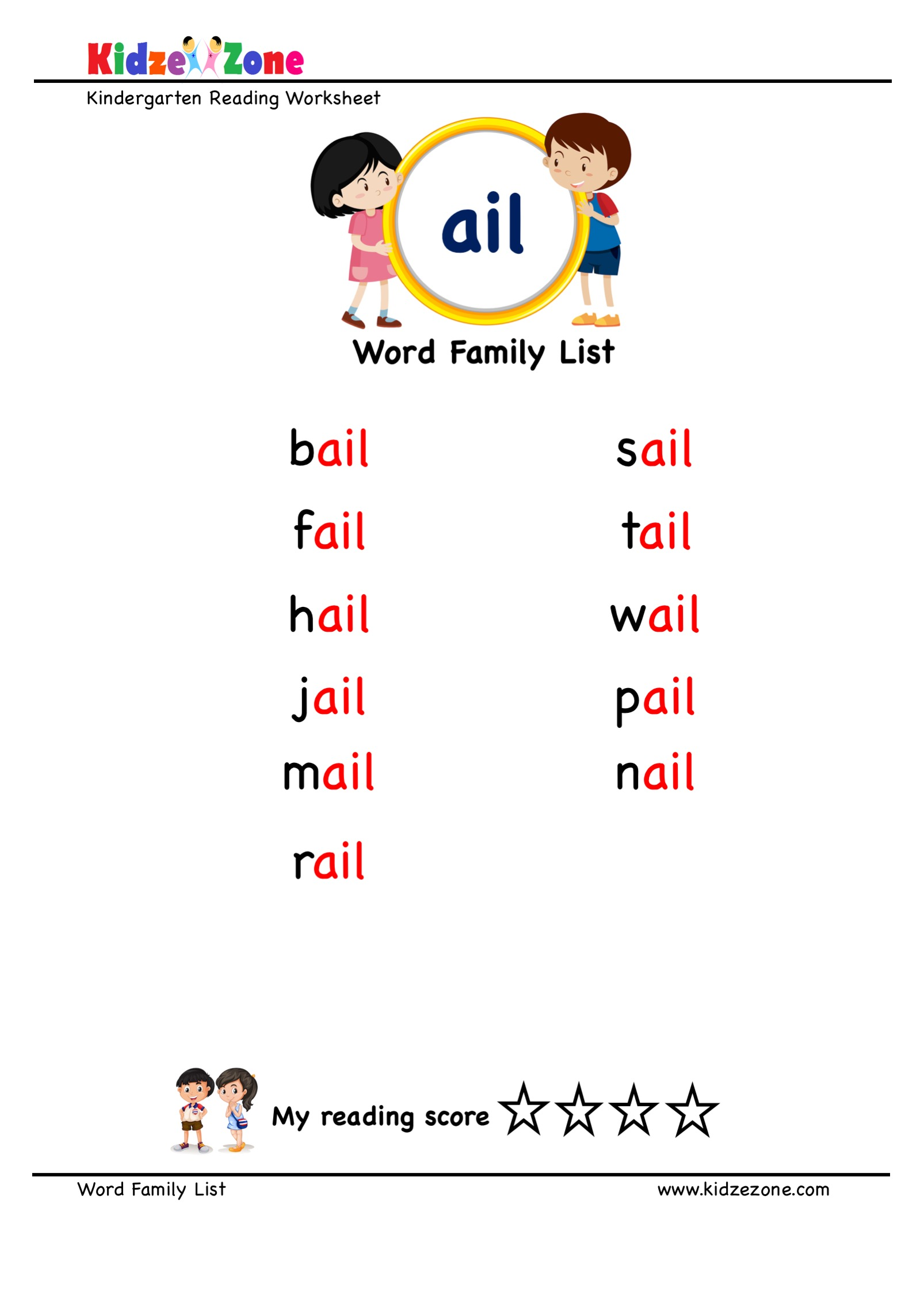 Explore And Learn Words From Ail Word Family