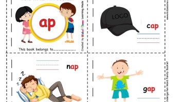 Kindergarten ap word family worksheet : Picture booklet