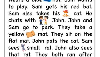 at word-family Reading comprehension Worksheet