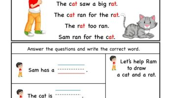 at word family Comprehension Worksheet