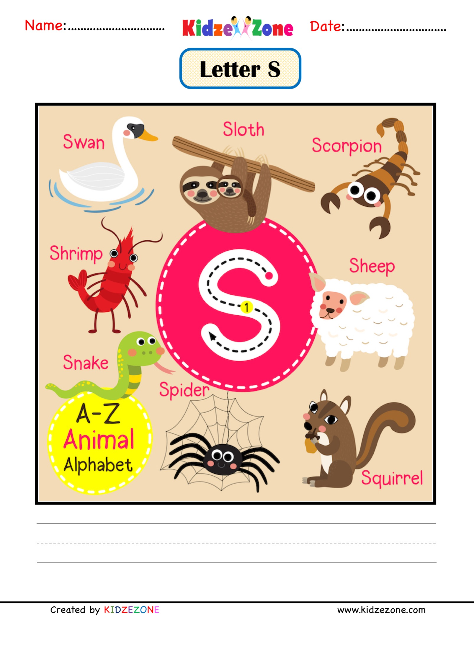 Kindergarten Letter S Worksheets