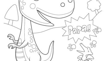 Dinosaur with Hatching Dino egg coloring page