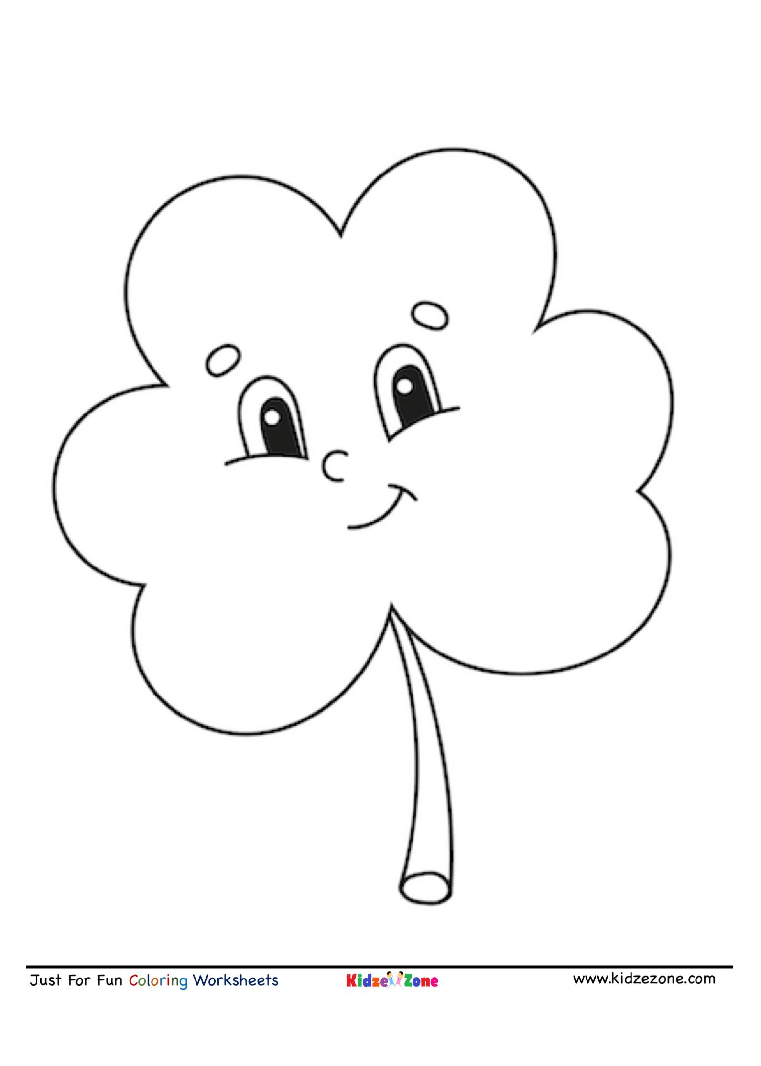 Leaf Cartoon Coloring Page