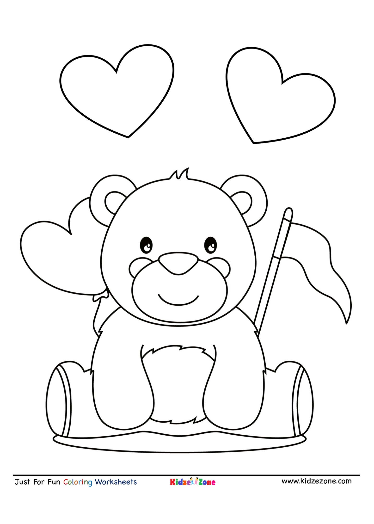 Cute Teddy Bear Coloring Page