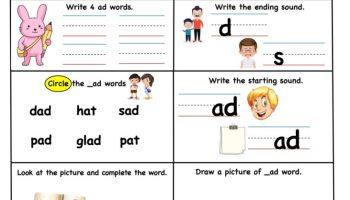 ad word family – Super Smart worksheet