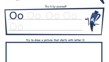 Letter O Super Smart Tracing, Writing, Drawing and Activity Worksheet