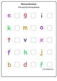 Missing Alphabets Worksheets English Worksheets For Kids