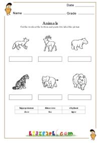 Matching Worksheet About Sense Organs Pre School Activity