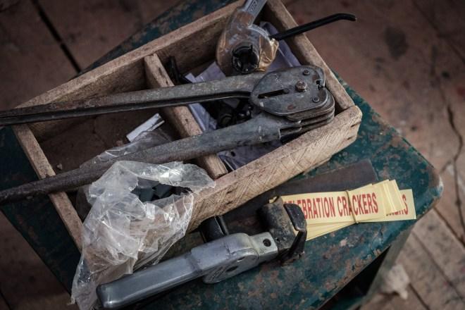 Werkzeug in der Feuerwerksindustrie